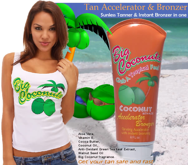 Accelerator bronzer in one lotion fast and safe