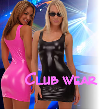 Super stretch vinyl mini dresses. Super sexy and  fun colors that show off your body.