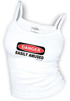 DANGER - EASILY AMUSED sexy Spaghetti strap tank tops