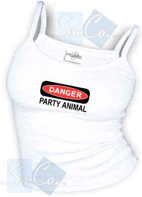 DANGER PARTY ANIMAL sexy Spaghetti strap tank tops