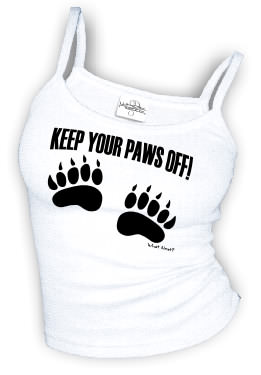 Keep Your Paws Off - Spaghetti Strap tank top