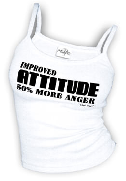 Improved ATTITUDE 50% More Anger - Spaghetti Strap tank top