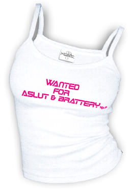 Wanted For ASLUT & BRATTERY - Spaghetti Strap tank top