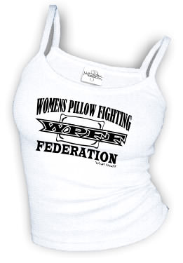 WPFF - Women's Pillow Fighting Federation - Spaghetti Strap tank top