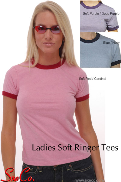 Ladies Soft Ringer Tees