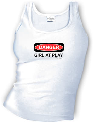 DANGER - GIRL AT PLAY tank top