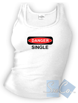 DANGER SINGLE tank top