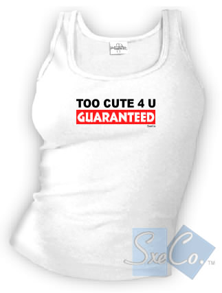 TOO CUTE 4 U GUARANTEED - spaghetti straps tops