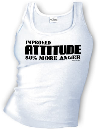 Improved ATTITUDE 50% More Anger - Tank top