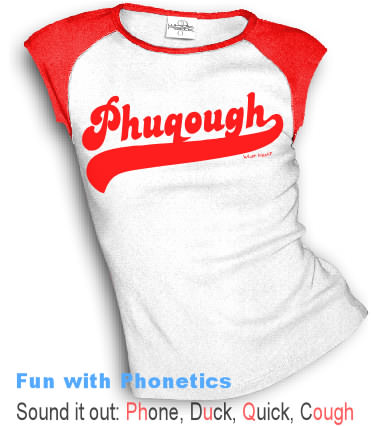 Fun with Phonetics: PHUQOUGH (Sound it out)