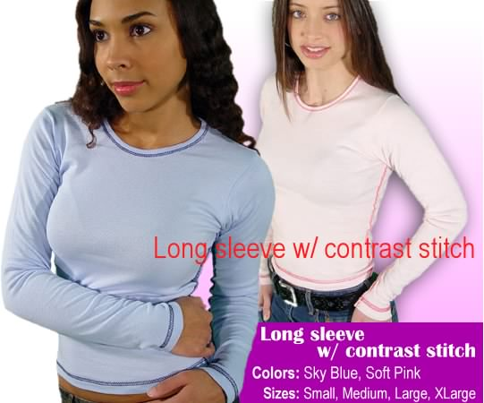 Long Sleeve contrast stich