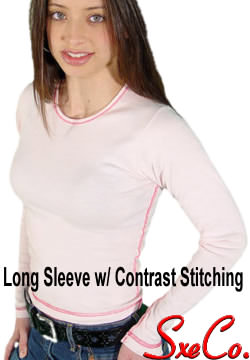 Long Sleeve Contrast stitch