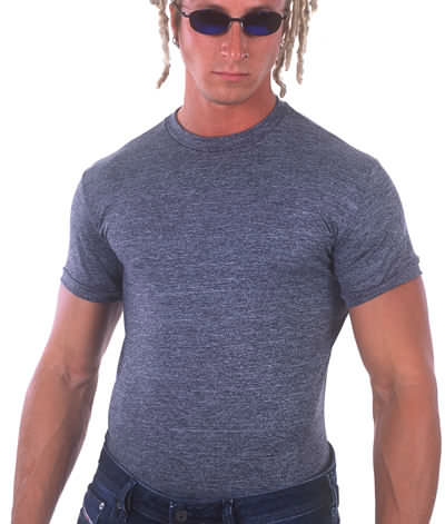 Body Tee Dark Heather Grey supplex/nylon/lycra